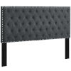 This item: Linden Gray Tufted King and California King Upholstered Linen Fabric Headboard