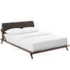 This item: Uptown Walnut Brown Queen Upholstered Fabric Platform Bed