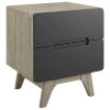 This item: Uptown Natural Gray Wood Nightstand