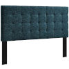 This item: Selby Azure Tufted Full Upholstered Linen Fabric Headboard