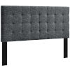 This item: Selby Gray Tufted Twin Upholstered Linen Fabric Headboard