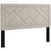 This item: Vivian Beige Nail head Full Upholstered Linen Fabric Headboard
