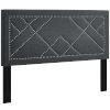 This item: Vivian Gray Nail head Full Upholstered Linen Fabric Headboard