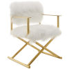 This item: Vivian Gold White Cashmere Accent Director Chair