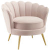 This item: Vivian Pink Scalloped Edge Performance Velvet Accent Armchair