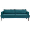 This item: Nicollet Teal 87-Inch Upholstered Fabric Sofa