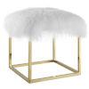 This item: Vivian Gold White Ottoman