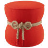 This item: Quinn Atomic Red Nautical Rope Upholstered Fabric Ottoman