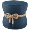 This item: Quinn Blue Nautical Rope Upholstered Fabric Ottoman