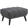 This item: Cooper Gray Upholstered Fabric Ottoman