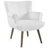 This item: Monroe White Upholstered Armchair