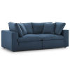 This item: Selby Azure Down Filled Overstuffed Two-Piece Sectional Sofa Set