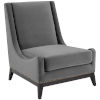 This item: Cooper Gray Accent Upholstered Performance Velvet Lounge Chair