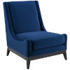 This item: Cooper Navy Accent Upholstered Performance Velvet Lounge Chair