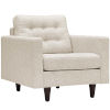 This item: Whittier Beige Upholstered Fabric Armchair