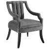This item: Monroe Gray Performance Velvet Accent Chair