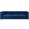 This item: Cooper Navy Channel Tufted Performance Velvet Sofa