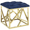 This item: Cooper Gold Navy Ottoman