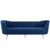 This item: Cooper Navy Vertical Channel Tufted Curved Performance Velvet Sofa