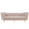 This item: Cooper Pink Vertical Channel Tufted Curved Performance Velvet Sofa