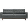 This item: Loring Gray Upholstered Fabric Sofa