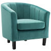 This item: Cooper Teal Channel Tufted Performance Velvet Armchair