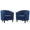 This item: Cooper Navy Channel Tufted Performance Velvet Armchair, Set of Two