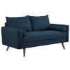 This item: Uptown Azure Upholstered Fabric Loveseat