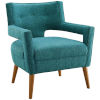 This item: Monroe Teal Upholstered Fabric Armchair