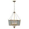 This item: Kate Antique Gold Four-Light Chandelier