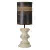 This item: Hazel Cottage White and Black 35-Inch One-Light Table Lamp