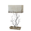 This item: Hazel Weathered Wood and Black One-Light Table Lamp