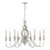 This item: Iris Antique White Eight-Light Chandelier
