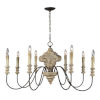 This item: Iris Weathered Wood and Black Eight-Light Chandelier