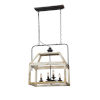 This item: Iris Cottage White and Black Four-Light Chandelier
