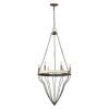 This item: Iris Antique White and Pewter Six-Light Chandelier