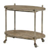 This item: Willow Antique Taupe and White Wash Bar Cart