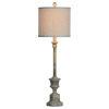 This item: Hazel Distressed Rich Gray One-Light Buffet Lamp