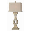 This item: Hazel Distressed Cream and Blue One-Light Table Lamp