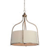 This item: Iris Beige and Silver Four-Light Pendant