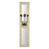 This item: Olivia Distressed White and Black Three-Light Wall Sconce