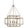 This item: Olivia White Distressed Four-Light Chandelier