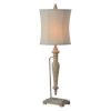 This item: Charlotte Worn Brown and Cream Wash One-Light Table Lamp