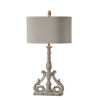 This item: Charlotte Worn Brown and Cream Wash 33-Inch One-Light Table Lamp