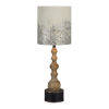 This item: Charlotte Washed Wood and Black One-Light Table Lamp