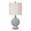 This item: Charlotte Blue and White One-Light Table Lamp