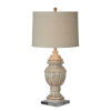 This item: Charlotte Gray and Cream Distressed One-Light Table Lamp