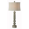 This item: Charlotte Antique Blue and White One-Light Table Lamp
