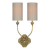 This item: Partridge Washed Gold Two-Light Wall Sconce