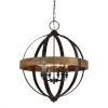 This item: Jackson Weathered Pewter And Driftwood Six-Light Chandelier